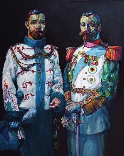 Colorful Bearded Men Paintings by Aaron Smith I Art Sponge #smith #beard #color #aaron #paint #portrait #men