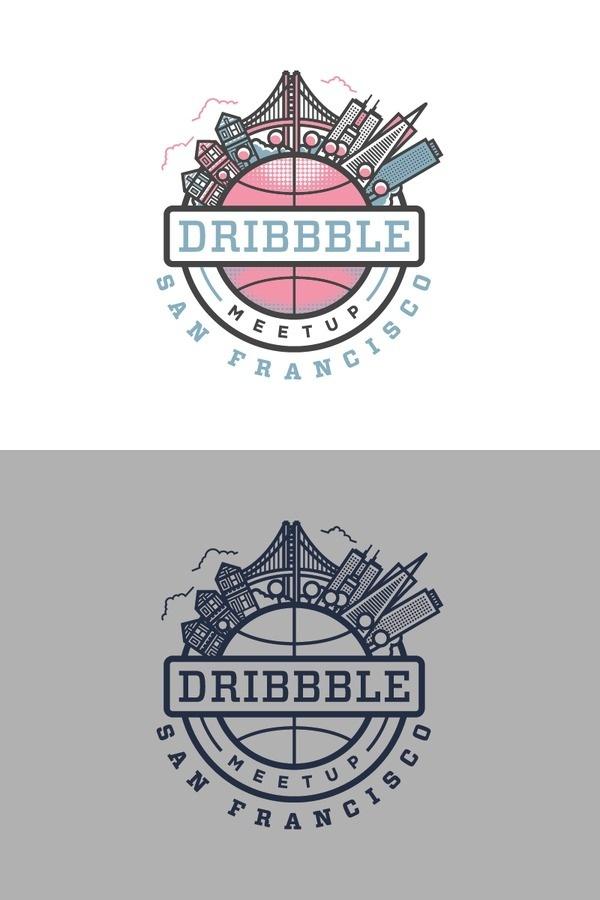 Dribbble san francisco meetup #flat #thick #illustration #lines