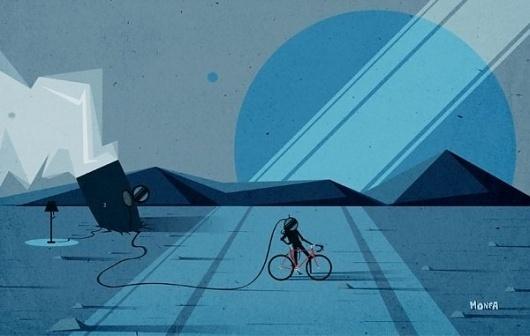 Illustration by Monfa | 123 Inspiration #monfa #illustration