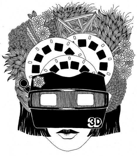 Drawings by Stephanie Kubo   Art Sponge #stephanie #kubo #drawing #portrait #mask #patterns