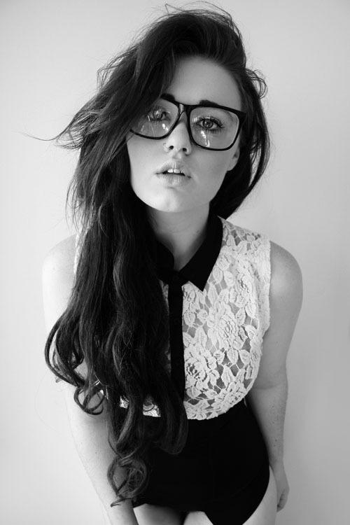 Haute Elements – Four-eyes. #model #white #black #portrait #and