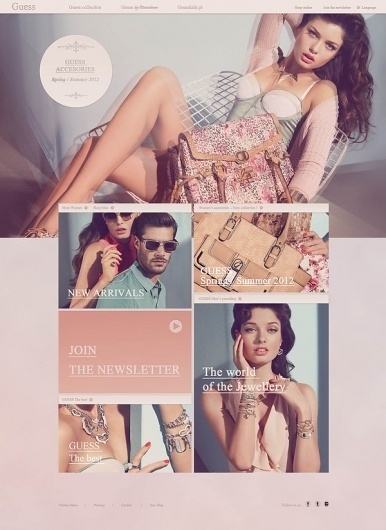 GUESS.com on the Behance Network #guess #layout #design #web