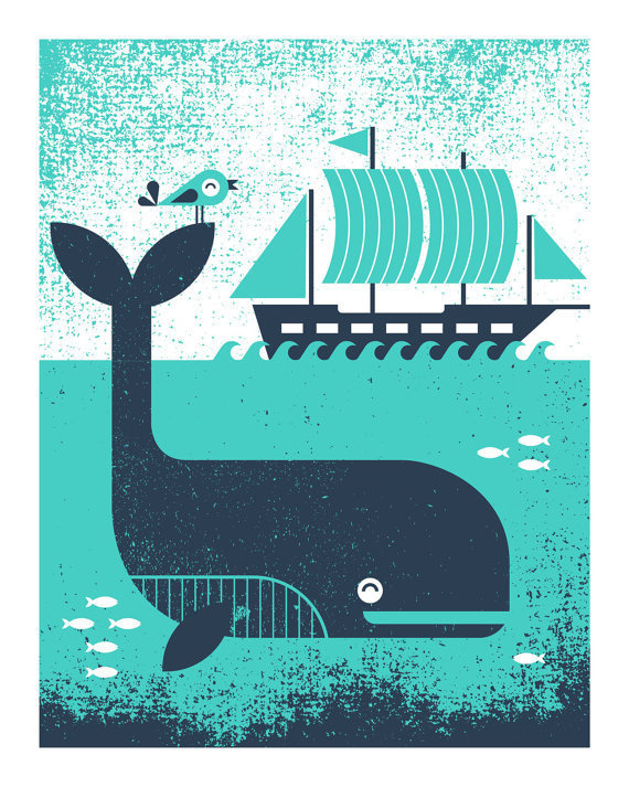 Poster Skills from Iowa | Allan Peters' Blog #whale #illustration #sea #boat