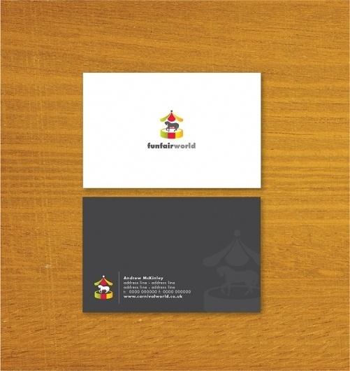 Funfair World – Business Card Designs | UK Logo Design #business cards #fun fair