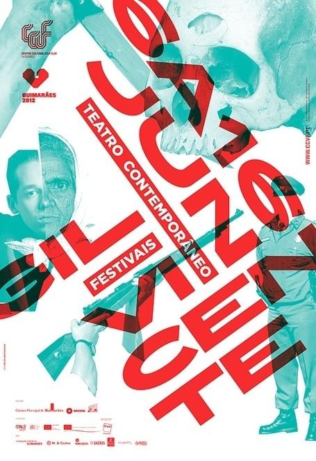 Festivais GIL VICENTE 2012 on the Behance Network #gil #teatro #festival #vicente #martino #jana