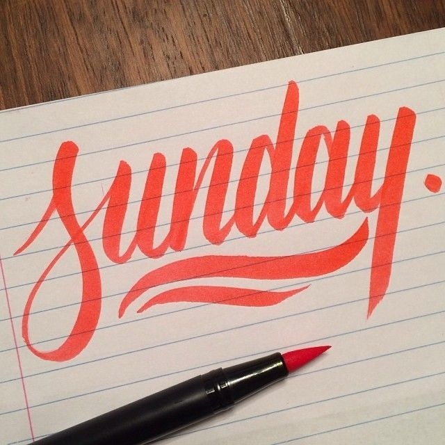 Sunday #calligraphy #lettering