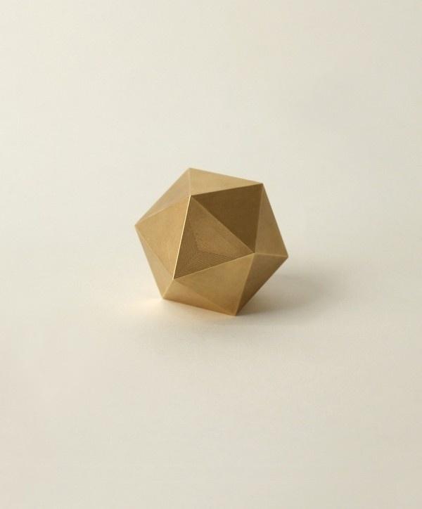 Brass Icosahedron Paperweight #stillhouse