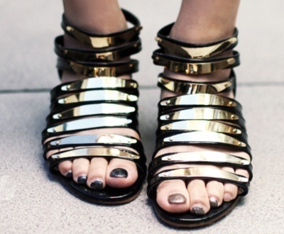 Pinned Image #shoe #sandal #gold