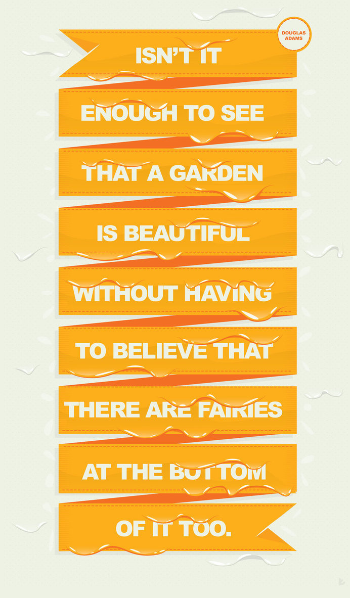 Beautiful Garden by whatthehell123456789 #design #graphic #poster #typography
