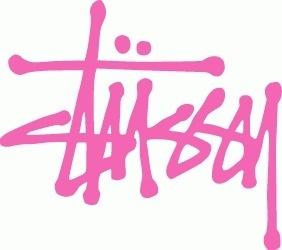 Google Image Result for http://www.1tshirtsworld.com/wp-content/uploads/2009/03/stussy-logo.gif #pink #logo #stussy