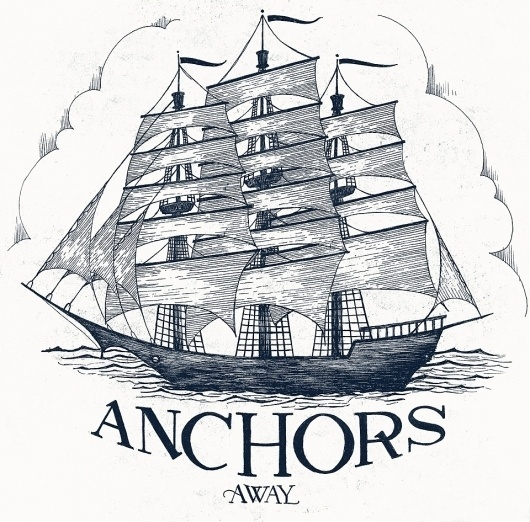 The Phraseology Project #lettering #sail #illustration #ship #sea #phraseology #anchor #mast