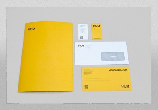 Pico #immage #branding #business #print #yellow #letterpress #corporate #identity #logo