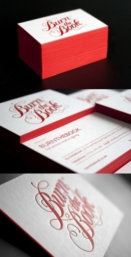 Red Letterpress Cards | Business Cards Observer #print #cards #business #typography