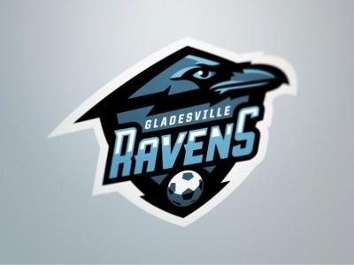Gladesville Ravens #vector #badge #soccer #logo #ravens