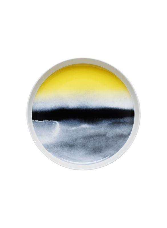 Marimekko´s Weather Diary Collection: Oiva salad platter #marimekko #maija #weather #collection #diary #metsolal #watercolor #aino