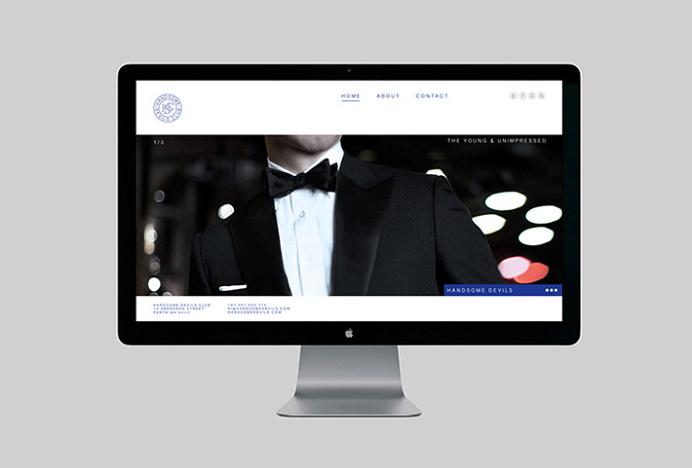 Handsome Devils Club by Taylor Evans #website #web design
