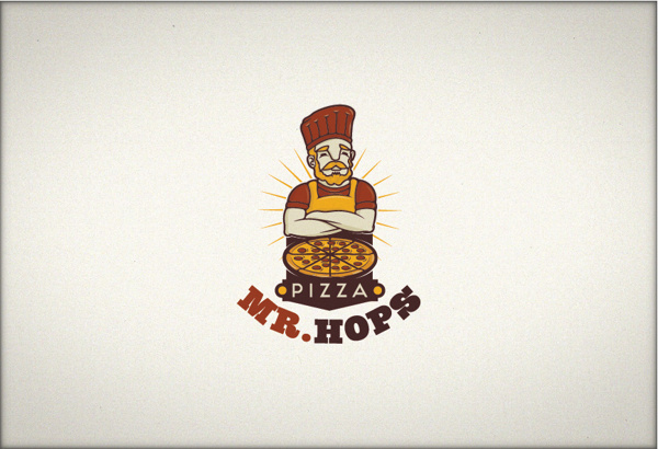 Mr. Hops #character #chef #food #pizza