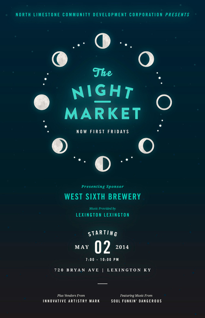 Night Market: May www.fromupnorth.com #poster #typography