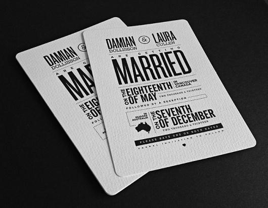 Terry Dee: Art Director / Bonus Features #wedding #invites #typography