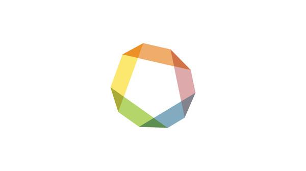 midem Logo #overlap #transparency #wheel #identity #music #logo #pentagon #rainbow