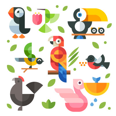 Magic-birds #icon #birds #illustration #geometric