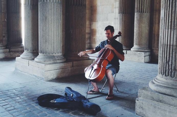 #paris #louvre #authentic #music #doublebass #summer