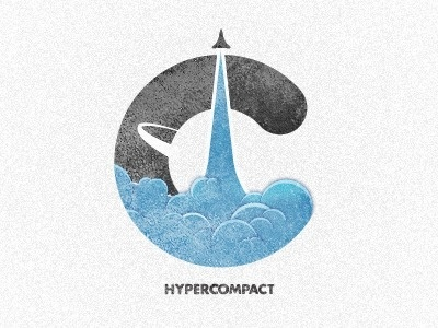 Dribbble - Hypercompact Emblem - Logo Iteration 2 by Morgan Allan Knutson #icon #logo #identity #branding
