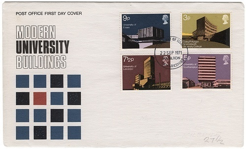 modern university buildings stamps | Flickr - Photo Sharing! #envelopes #british #modern #university #stamps #vintage #buildings