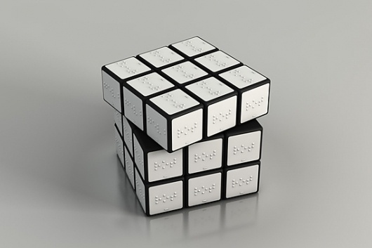 Creative Review - Talk To Me at MoMA #braille #rubiks #cube