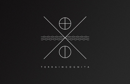 Ritxi Ostáriz. Terra Incognita #logo #inverted #minimalistic