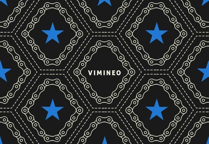 Vimineo logo design pattern. #pattern #bicycle #chain #star #logo