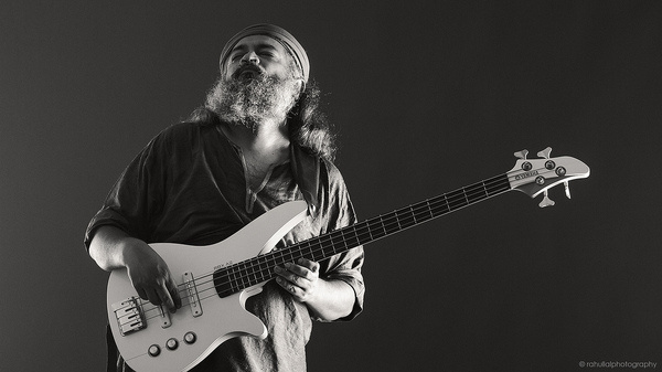 Rahul Ram of Indian Ocean for Yamaha Music India. #ocean #guitar #bass #lal #india #delhi #indian #photography #portrait #studio #yamaha #ram #music #musician #rahul #band #new