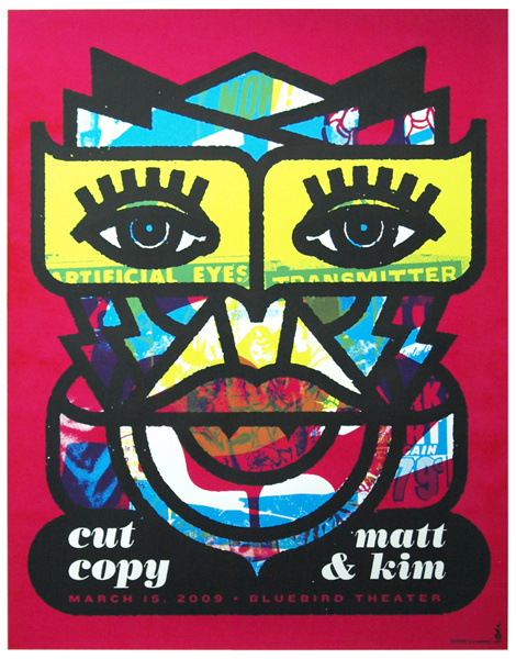 cut copy poster #gig #screenprint #poster