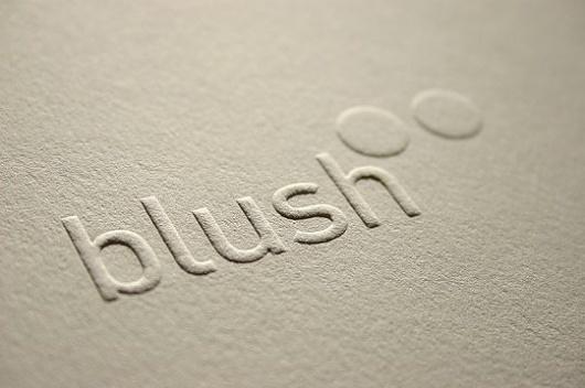 Blush°° Bespoke & custom letterpress printing in the UK #logo
