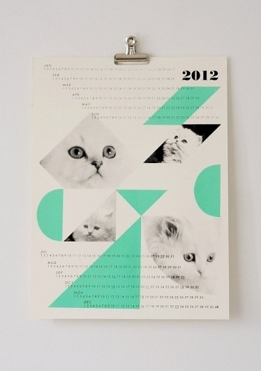 dreamcats 2012 calendar mint by fieldguided on Etsy #fieldguided #calendar #cats