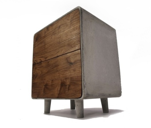 Concrete & Wood Cabinet