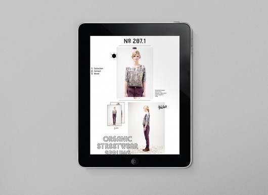 Bureau Bruneau / Bench.li #fashion #ipad #design #typography