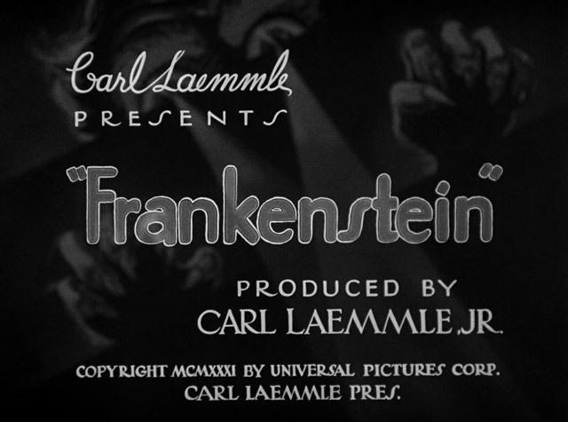 Frankenstein (1931) Title Card #movie #lettering #title #card #vintage #type