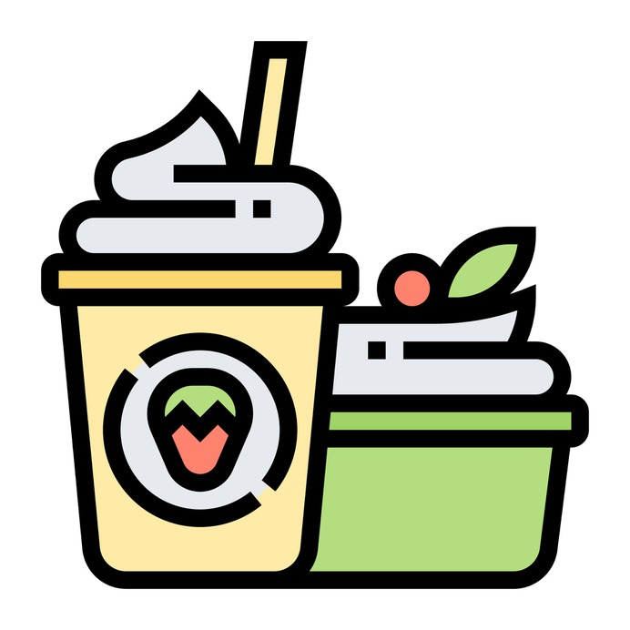 See more icon inspiration related to yogurt, dessert, yoghurt, summer, sweet, diet, food, food and restaurant, kid and baby, frozen yogurt, summertime, ice cream and healthy on Flaticon.