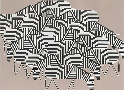 clementine studio: Charley Harper #charley #illustration #harper #zebra