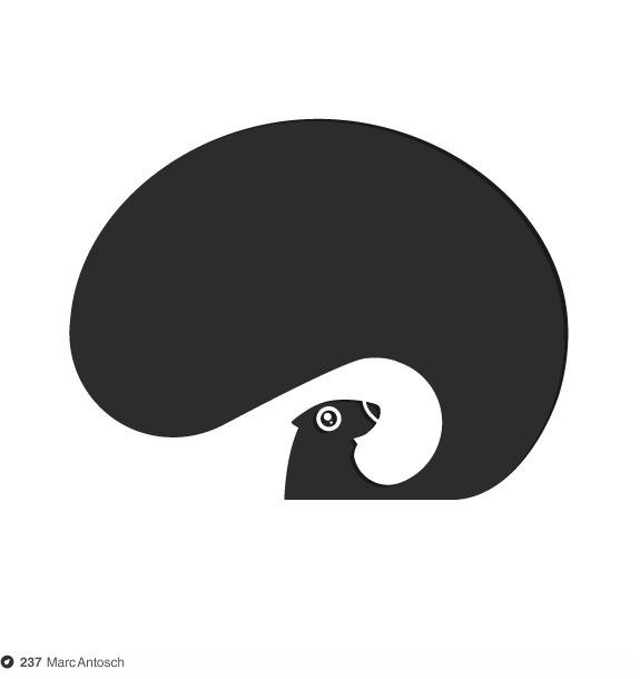Squirrel by Marc Antosch #mark #logomark #branding #monogram #logo