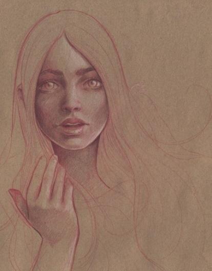 kraft paper | Flickr - Photo Sharing! #paper #illustration #kraft #girl