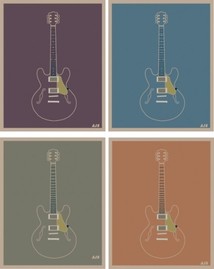 T.H.E. N.O.T.E.S. #andy #four #guitars #poster #schaul