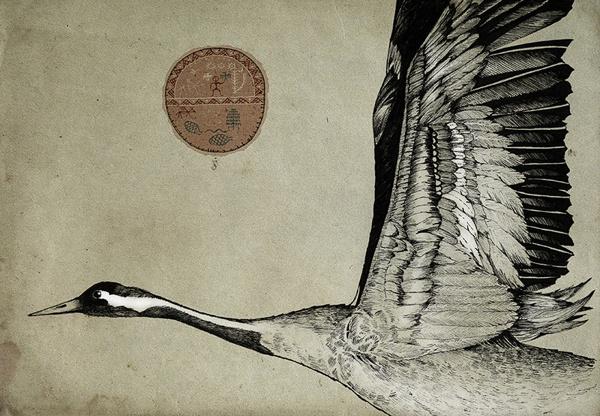 Totem on Behance #totem #goose #wing #spirit #animal