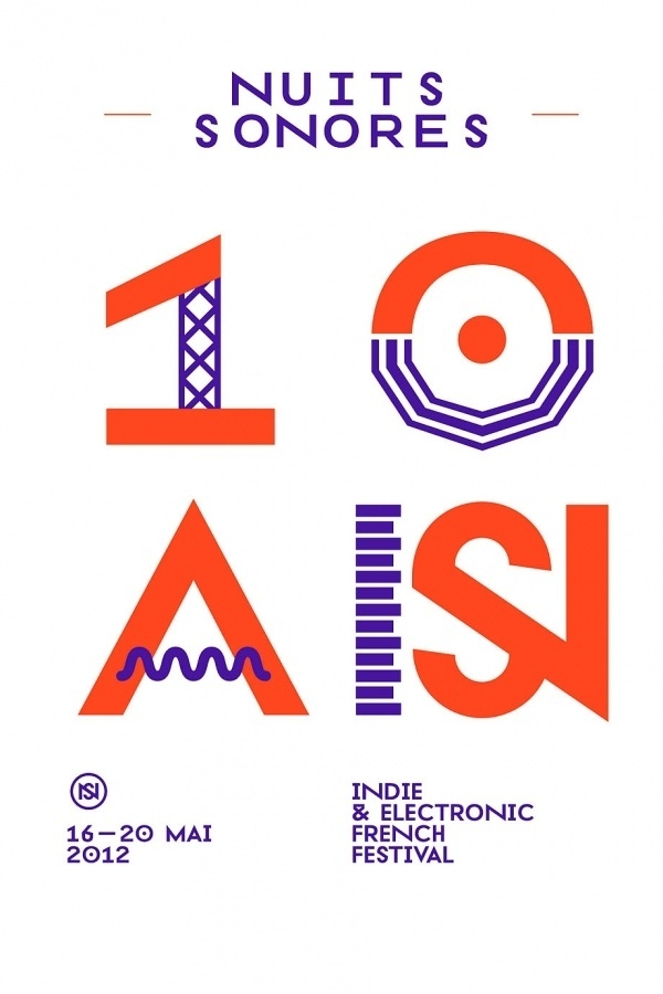 Superscript² / Nuits Sonores 2012 #poster #typography