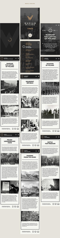 Warsaw Rising on Behance #app #web design #layout