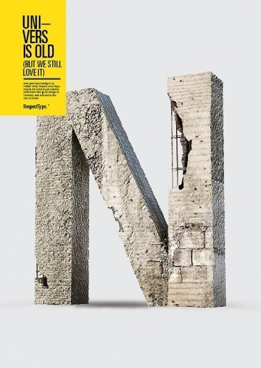 RespectType. - Miguel de la Garza #concrete #univers #g #de #miguel #respectype #la #poster #type #typography