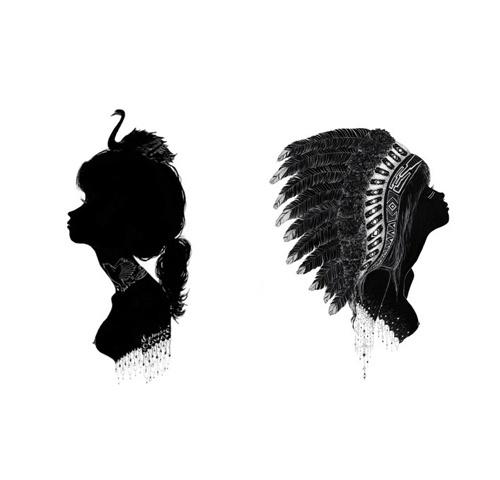 soggetti smarriti #vector #woman #black
