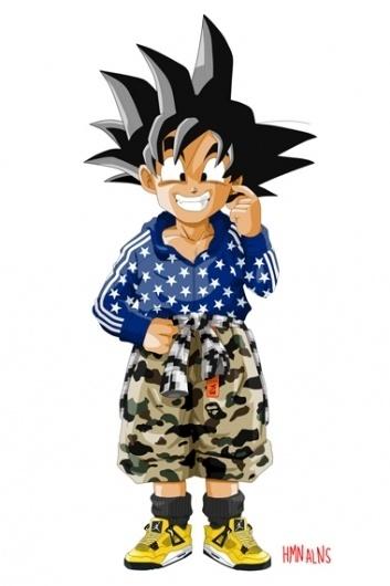 Dragon Ball Z x HMN ALNS   Hypebeast #dragon #ball #goten #manga #anime #fashion #collaboration #son