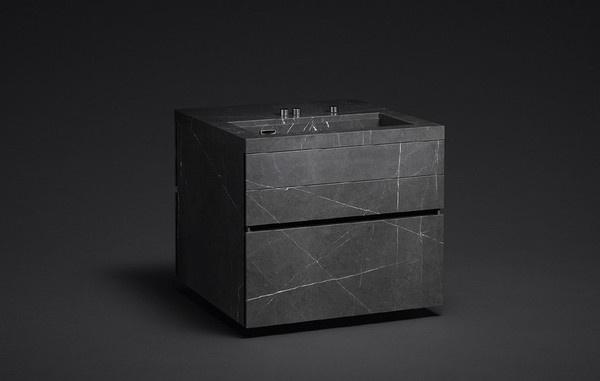 Amazing Kitchen Furniture Made of Stone by Martin Steinnger/ Michael Paar #interior #furniture #kitchen #minimal